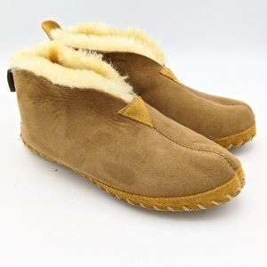 LL Bean Wicked Good Slippers Shearling Lined Women